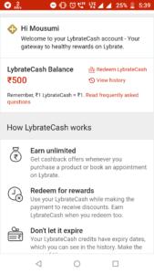 lybrate cash