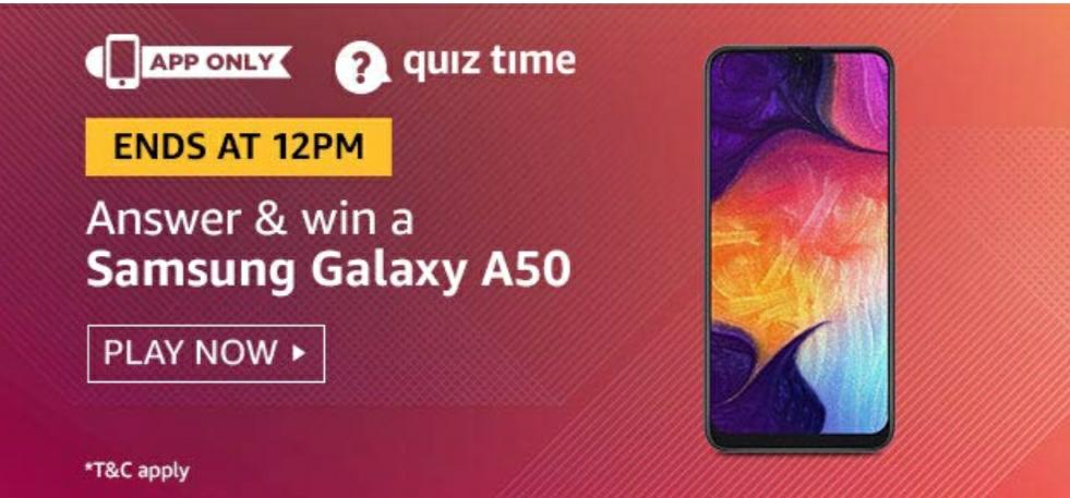 Amazon quiz answer