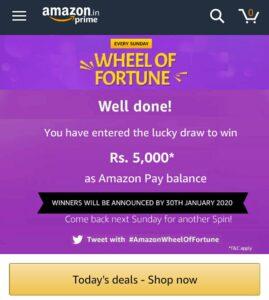 Amazon Wheel Of Fortune